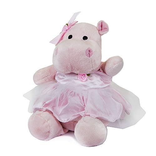 Adorable Plush Pink Hippo with Ballerina Skirt Stuffed Animal ad59e4c1c055