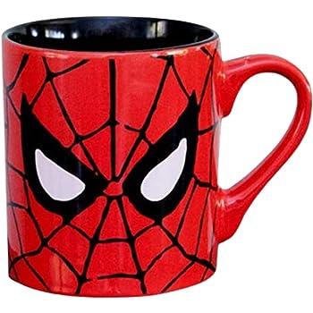 Silver Buffalo MC7032 Marvel Comics Spider-Man Eyes Ceramic Mug, 14-Ounces, multicolor