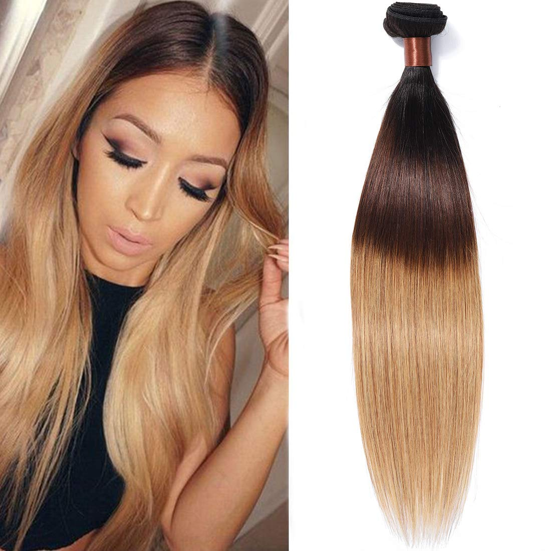 BLACKMOON HAIR Brazilian Virgin Ombre Hair Beauty products Straight Silky W All stores are sold