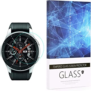 Tempered Glass Screen Protector BECROWM 9H Hardness Protective Glass Compatible with Samsung Galaxy Watch 42mm/46mm Ver,2....
