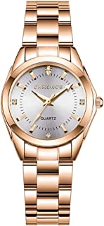 Women's Watch Classic Fashion Business Daily Waterproof Stainless Steel Watch with Japanese Movement Quartz