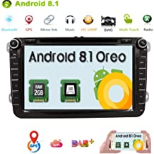 HIZPO Android 7.1 OS Quad Core Car In Dash DVD Player with GPS Navigation 1024600 HD Touchscreen for VW