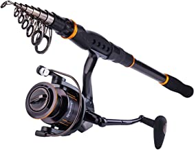 Sougayilang Fishing Rod Reel Combos, Collapsible Telescopic Fishing Pole with Spinning..