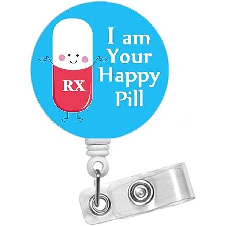 Pharmacy Badge Reel Badge Reel ID Glitter Badge Reel ID Holder Badge Clip RX Badge Reel