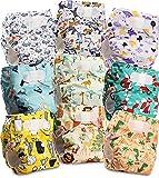 Littles and Bloomz FLV2-0904 - Pañal de tela reutilizable para bebé, 9 pañales