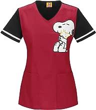 Snoopy Women/'s Scrub Top
