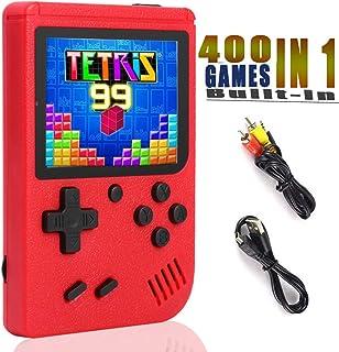 YFish Mini Console de Jeu Rétro Portable avec 400 Games 8BIT 3 Pouces D'Ecran, Console de Jeu Vidéo FC Classiques Grand Ca...