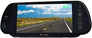 """7"""" Car Monitor In-Mirror LCD Screen MP5 SD Card/USB Play - Audio FM Transmission, E-KYLIN 12-24V Universal for Truck Auto ..."""