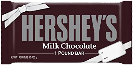 HERSHEY'S Holiday Candy Chocolate Bar, Great for Christmas Gifts, 1 Pound Bar