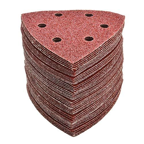 CLKDB Gancho de Papel para lijadora Delta de 90 mm y 6 Orificios de 100 Piezas y amp;Herramientas abrasivas de Disco de Papel de Lija de Bucle para lijar Grano 40-2000,100PCS