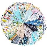 100Pcs Retales de Tela Patchwork 12,5x12,5cm 100% Algodón Telas Material para Coser Manualidades DIY Costura Muñecas Infantil