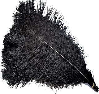 Sowder 5pcs Ostrich Feathers 16-18inch(40-45cm) Home Wedding Decoration(black)
