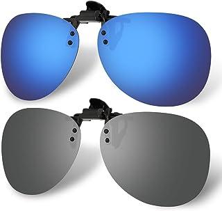 Hifot - Hifot Clip Gafas de Sol polarizadas Lentes 2 Piezas, Flip up Gafas de Sol para Mujer Hombre, Suplementos de Sol para Gafas graduadas