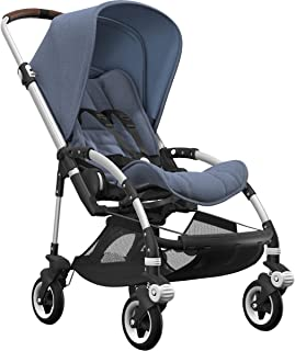 Bugaboo Bee5 Complete Stroller, Alu/Blue Mélange - Compact, Foldable Stroller for Travel and Urban Life. Easy to Steer on City Streets & Tight Turns! The Most Popular Lightweight Stroller!