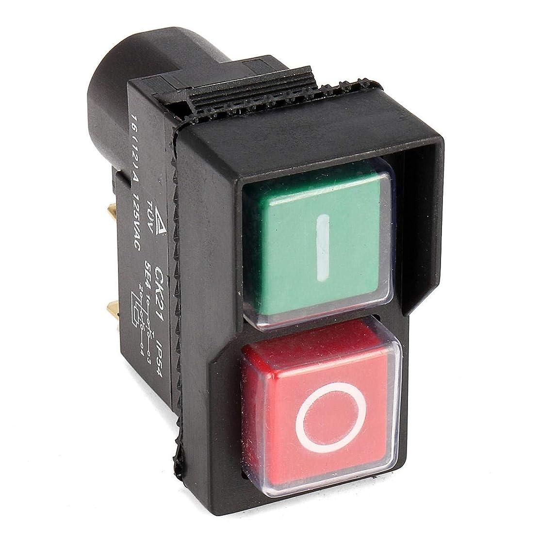 精緻化解明する安息Ghlis Maigt 125V IP54スイッチ4ピン無電圧プラスチックリリーススイッチの押しボタンスイッチ 省エネと安全