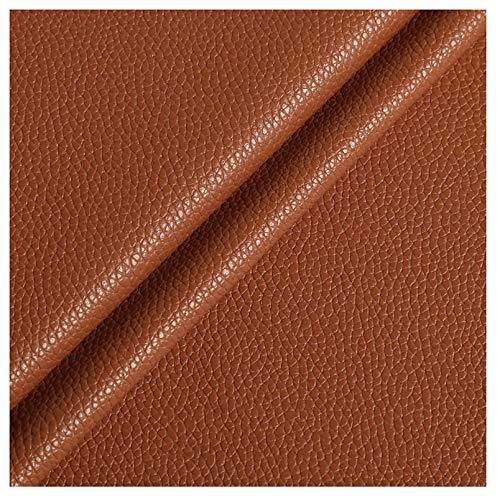 wangk Polipiel para tapizar, Manualidades, Cojines o forrar Objetos. Venta de Polipiel por Metros Ancho 1.38m Piel sintética para Asientos de Coche sofá Multicolor-Marrón Amarillo 37# 1.38x1m