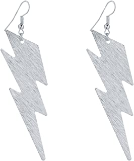 IDB Productions IDB Delicate Filigree Dangle Lightning Bolt Drop Hook Earrings - Available in Silver and Gold Tones