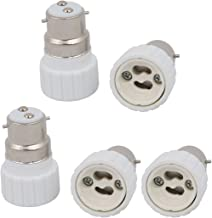 uxcell® 5pcs B22 to GU10 Extender Adapter Converter Lamp Bulb Socket Holder White