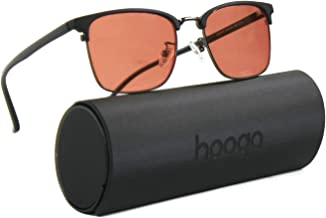 Migraine Glasses for Migraine, Headache, and Light Sensitivity Relief by Hooga, Indoor Use, Unisex Frame, FL-41 Filter Blo...
