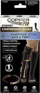 Copper Fit Knee-High Compression Socks 2-Pack (Black) Large / X-Large