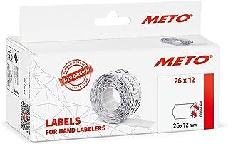 Original MER-LIN Preisauszeichner Etiketten 4-2612w 26 x 12 mm, 1-zeilig, 6.000 St/ück, permanent, Preisetiketten f/ür Meto