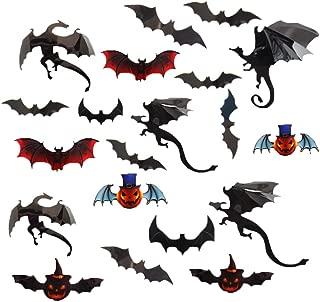 Halloween 3D Sticker, 3D Bat Gothic Dragons Halloween Wall Stickers Decor Art Decorations