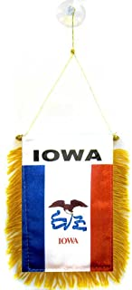 ALBATROS State of Iowa Mini Flag 4 inch x 6 inch Window Banner with Suction Cup for Home and Parades, Official Party, All Weather Indoors Outdoors