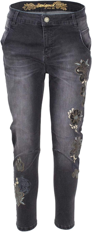 Desigual Women's 18WWDD08GREY Grey Cotton Jeans