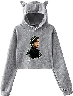 JINZ Cole Sprouse Women's Long Sleeve Sweater Cat Ear Hoodie Sweater