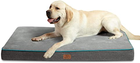 Bedsure Large Memory Foam Orthopedic Dog Bed - Washable Dog Crate Mat with Removable Cover and Waterproof Liner - Plush Fl...
