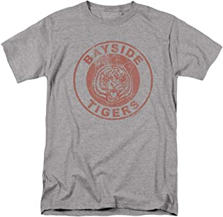 Saved by The Bell Bayside Tigers NBC T Shirt & Stickers, Distressed Logo