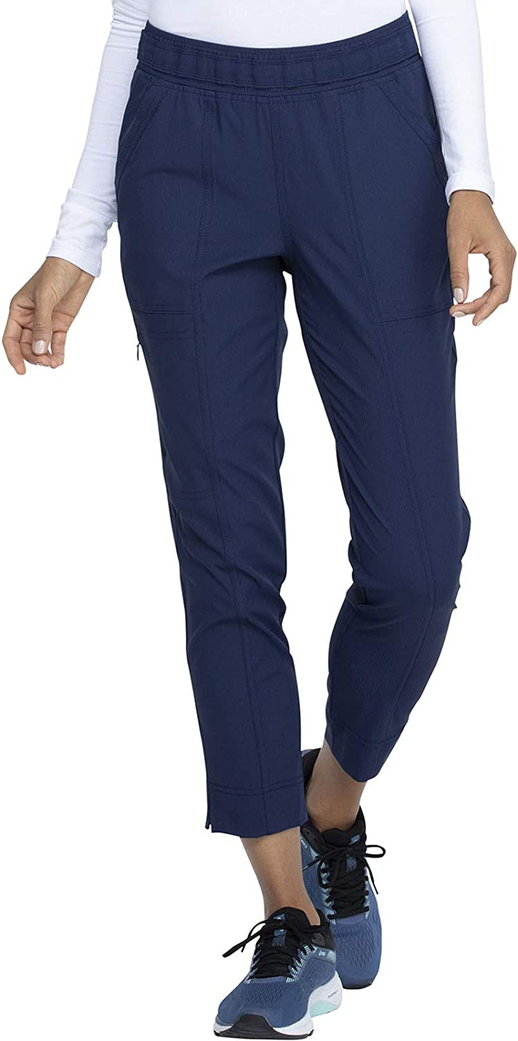 Elle Simply Polished Mid Rise Ankle Animer and price revision Pant Tapered High quality Scrub Leg