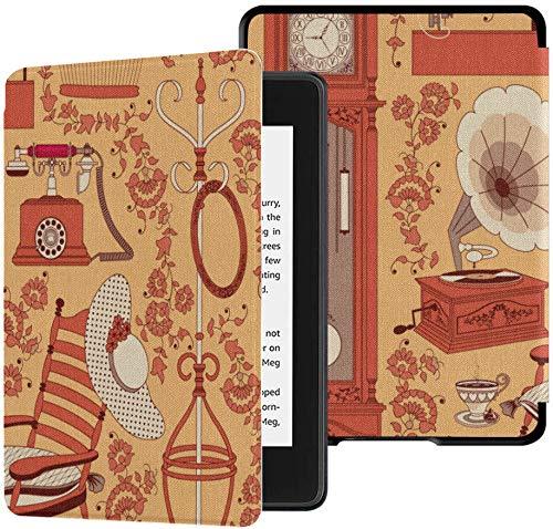 Kindle Paperwhite Case 2018 Retro Cartoon Sewing Machine Clothing Best Kindle Paperwhite Case Case with Auto Wake/Sleep Kindle Paperwhite Cover 2018 10th Generation 2018