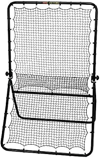 EASTON PLAYBACK ELITE Practice Net | 2020 | Adjustable Hinge for Multiple Training Options - Ground Balls + Line Drive + Pop Up Flies | Heavy Duty Steel Frame | Knotted Weather Resistant Netting