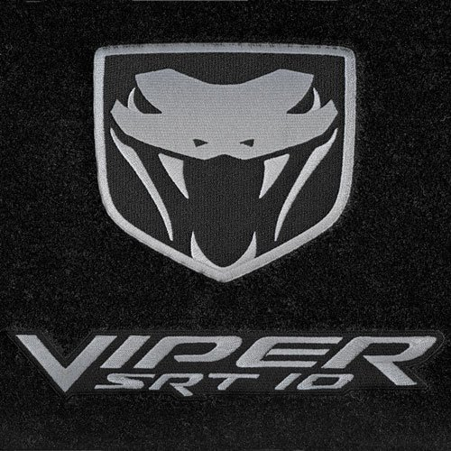 Dodge Ram Viper SRT-10 SRT10 High-End Truck Floor Mats Black with Silver Logos 2004 2005 2006
