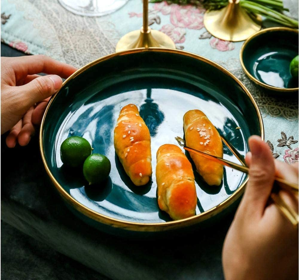 MZXUN Plates Dinner Set Emerald Single Las Vegas Mall D Tableware Exquisite Ranking TOP6