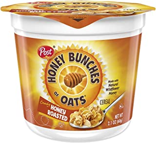 Honey Bunches of Oats Honey Roasted, 2.1 Ounce (Pack of 12) cups