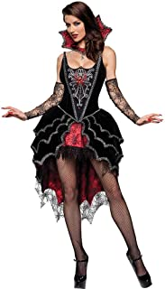 Women's Costume Vampire Spiderweb Demon Sexy Lace Fancy Dress,Halloween Party Cosplay Outfit for Adult Ladies