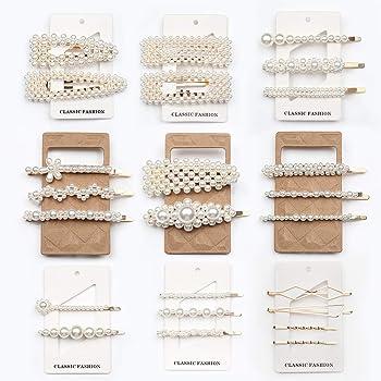 Fashion 6Pcs//Set Pearl Hair Clip Barrettes For Women Hairpins Accessories #