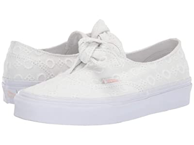 Vans Authentic Knotted ((Cotton Lace) True White/True White) Skate Shoes