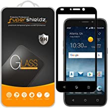 (2 Pack) Supershieldz for ZTE Maven 3 Tempered Glass Screen Protector, (Full Screen Coverage) Anti Scratch, Bubble Free (Black)