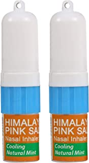 Natural Solution 8206A-2PK Pink Salt Aromatherapy Nasal Cooling Essential Oils,Natural Remedy for Sinus Relief, Allergies, Headaches, Cold, Flu and Congestion-Pack of 2, Mint 2 Pack Inhaler