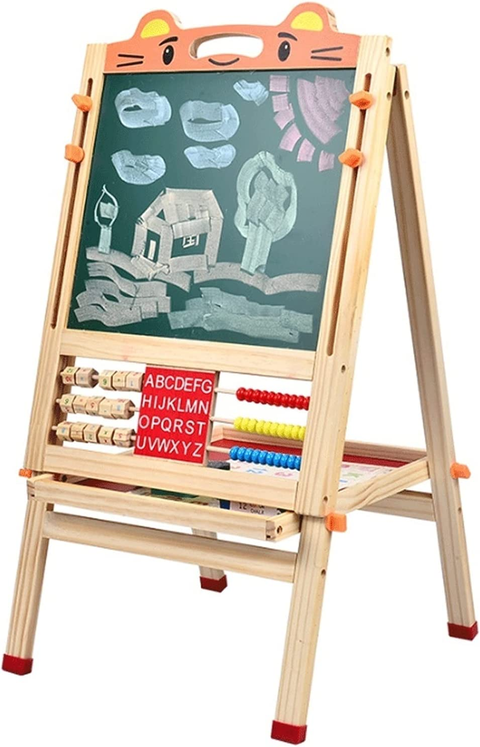 LICHUAN Kids Easel Drawing Board Small White Max 49% OFF Blackboard Super-cheap Magnetic