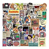 JIANGER Retro Stickers 100PCS Movie Stickers Vintage Stickers Vinyl Waterproof Stickers for Kids Teens Adults Laptop Water Bottles Skateboard Guitar Decorations