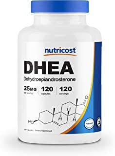 Nutricost DHEA 25mg, 120 Capsules - Gluten Free, Soy Free, Non-GMO, Supplement