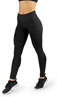 Contour Athletics Women's (Hydrafit) Yoga Leggings Full Length Running Workout Pant Side Pockets