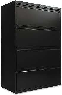 Alera LF3654BL Four-Drawer Lateral File Cabinet, 36w X 19-1/4d X 53-1/4h, Black