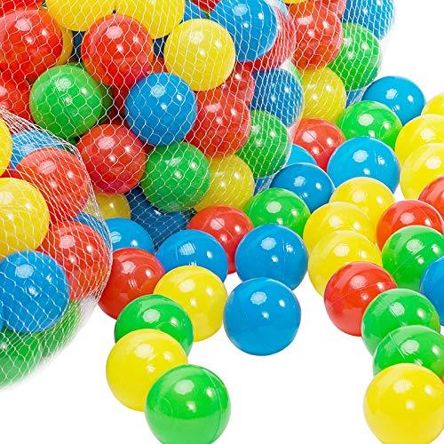 Spielwerk Bällebad Bälle 200 Bunte Spielbälle Ø5,5cm inkl. Tragetasche für Kugelbad Spielzelt Kinderzelt Ball Kinder