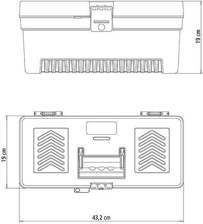 Caixa plástica para Ferramentas 17 Pol. com Organizador de Plástico 16 Pol.-TRAMONTINA-43804217