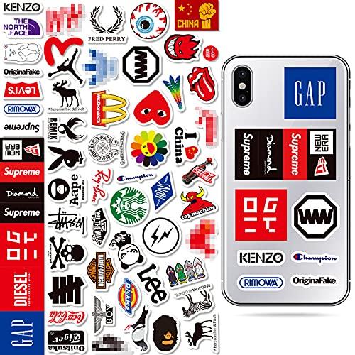 HAOZH Pegatina con el Logotipo de la Marca Tide, Casco de Ordenador, monopatín, Pegatina para teléfono móvil, Maleta, Pegatina para Equipaje, 58 Hojas